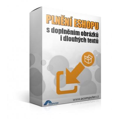 Plnění e-shopu s doplněním obrázků i dlouhých textů