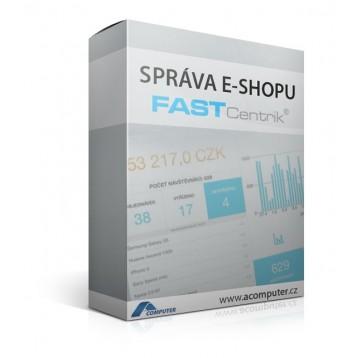 Správa E-shopu vytvořeného pomocí systému Fastcentrik